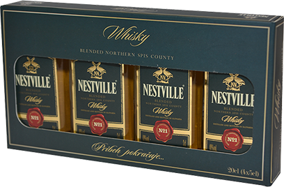Darčekové balenie Nestville whisky 4x0,05l